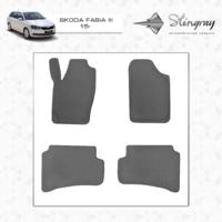 Резиновые коврики Skoda Fabia III 2015- (передние)