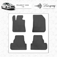 Резиновые коврики Peugeot 308 2013- (передние)