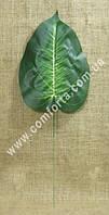 25549 Лист диффенбахии, размеры листа ~ 28 см x 20 см, зелень искусственная