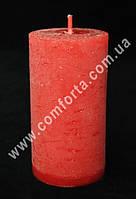 25818-11 Цилиндр, свеча декоративная красная, размеры ~ 5,5 см х 10 см, время горения ~ 20 часов
