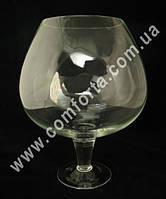 27855 Бокал-бренди 7 л, высота ~ 32 см холодная отрезка, ваза стеклянная