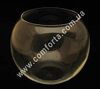 31625 Шар, высота ~ 16 см, диаметр ~ 19 см, ваза стеклянная
