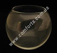 32088 Шар, высота ~ 12 см, диаметр ~ 15 см, ваза стеклянная