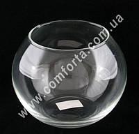 32595 Шар, высота ~ 9,5 см, диаметр ~ 12 см, ваза стеклянная
