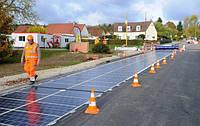 Солнечные панели заменяют дорожное покрытие.