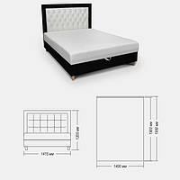 Кровать Кора со стразами Креаль