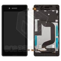 Дисплейный модуль для мобильного телефона Sony D2203 Xperia E3, черный,с рамкой, original (PRC)