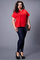 Очень красивая шифоновая женская блуза увеличенных размеров