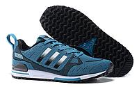 Кроссовки мужские  Adidas Оriginals ZX750 Flyknit (blue/black) - 24Z мужские, кроссовки адидас