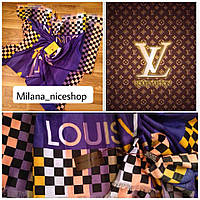 Палантин  Louis Vuitton фиолетовый