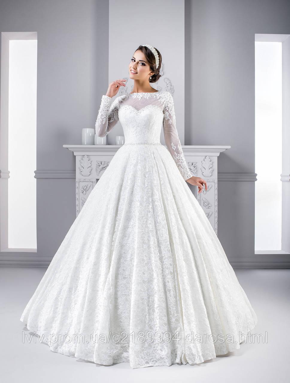 Пышные свадебные платья а силуэт