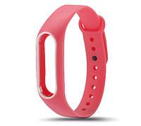 Силиконовый ремешок для фитнес-браслета Xiaomi Mi Band 2 - Pink-White