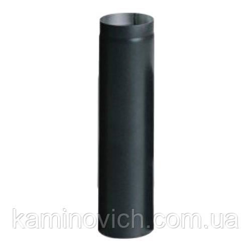 Дымоходная туба из черной стали 1 м Ф200