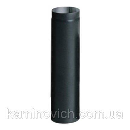 Дымоходная туба из черной стали 1 м Ф200, фото 2