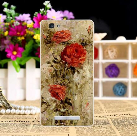 Яркие оригинальные чехлы (силикон) с картинками для ZTE Blade A610 Красные розы