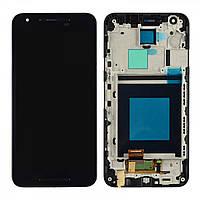 Дисплей (экран) для LG Nexus 5X H791 + с сенсором (тачскрином) и рамкой Black