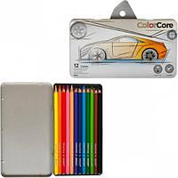 """Набор цветных карандашей 12 цв.+1 графит. MARCO """"ColorCore"""" 3100-12TN в металл. коробке"""