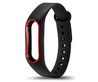 Силиконовый ремешок для фитнес-браслета Xiaomi Mi Band 2 - Black-Red