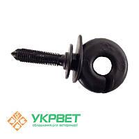Ізолятор для мотузки і дроту круглий вбивається, FARMER PND - 150 шт