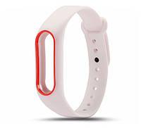 Силиконовый ремешок для фитнес-браслета Xiaomi Mi Band 2 - White-Red