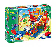 Детский гараж Wader, 3 этажа с дорогой 3 м