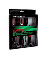 Набор диэлектрических отверток 1000V 6 предметов, Toptul GAAE0612