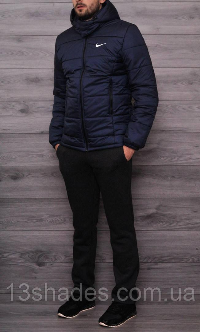 ee15ead1 Куртка зимняя мужская с капюшоном (синяя) Nike: продажа, цена в ...