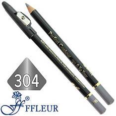 Ffleur - Карандаш ML-300 для глаз дерево с точилкой Тон №304 frost black перламутр
