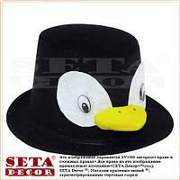 Шляпа цилиндр Пингвин карнавальный