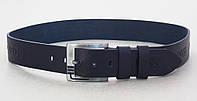 Ремень синий кожаный Hugo Boss мужской, фото 1