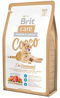 Корм для привередливых кошек с уткой и лососем Brit Care Cat Cocco Gourmand