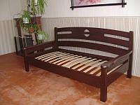 """Деревянная кровать """"Луи Дюпон"""". Массив - сосна, ольха, дуб."""
