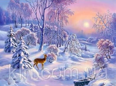 Алмазная вышивка Зимний лес 30*40 см (арт. FS355)