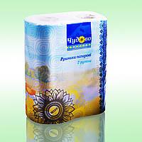 Бумажные полотенца кухонные 2-х слойные целлюлоза ламинация Чудово