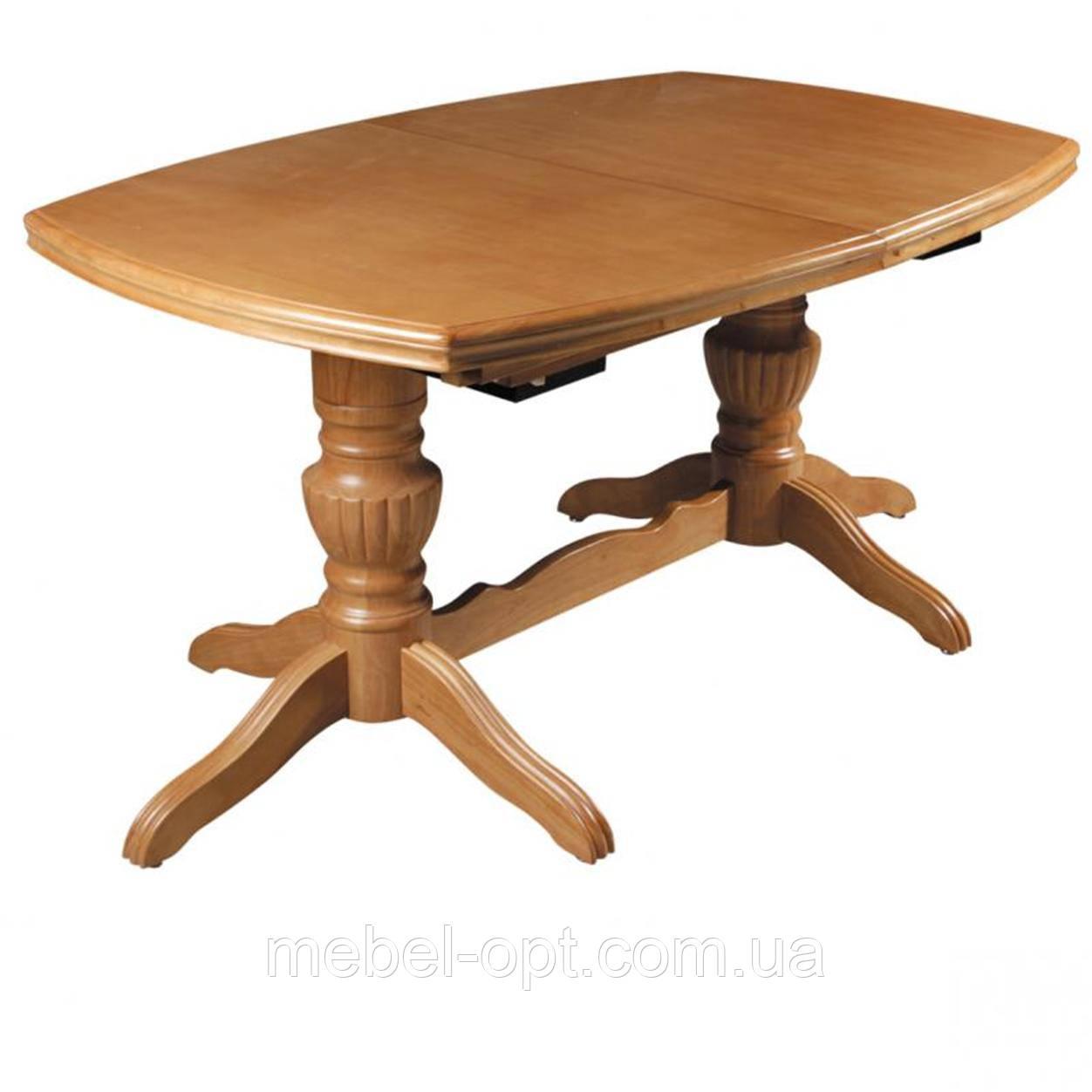 Раскладной обеденный стол, 3 вставки по 50см, WT-58 ольха