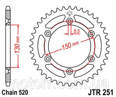 Задняя звезда JT JTR251.49