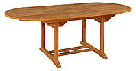 Тиковый стол раскладной овальный TE-150T