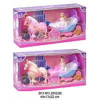 Лошадь с каретой и куклой. Набор музыкальный