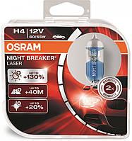 "Автомобильные галогенные лампы ""OSRAM"" (H4)(12V)(60/55W)(Night Breaker Laser)(+130%)"