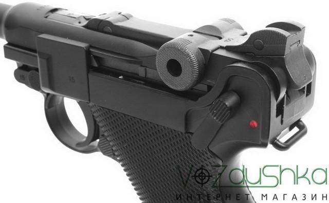 пневматический пистолет люгера kwc  p08 parabellum