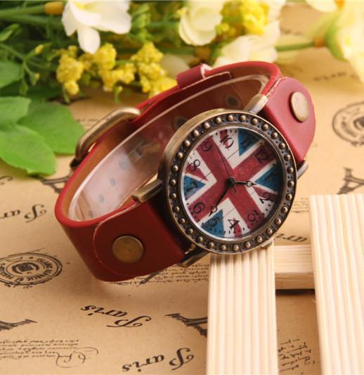 Часы женские наручные BRITISH FLAG red (красный)