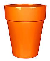 Горшок для цветов, глина, оранжевый