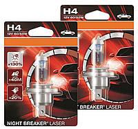 """Автомобильная галогенная лампа """"OSRAM"""" (H4)(12V)(60/55W)(Night Breaker Laser)(+130%), фото 1"""