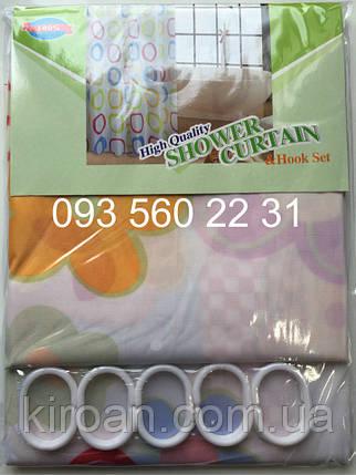"""Шторка для ванной (зонтичная ткань) """"Яркие цветы"""", фото 2"""