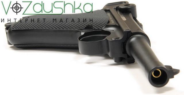 пневматический пистолет люгер (парабеллум) с подвижным затвором