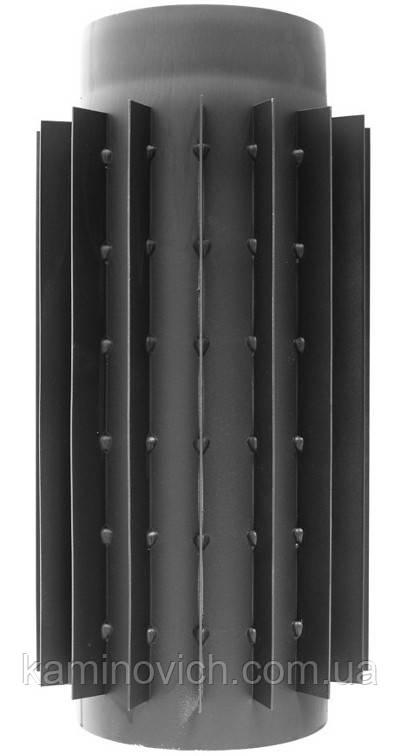 Дымоходная труба-радиатор из черной стали 0.5 м Ф180