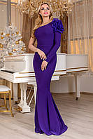 Платье вечернее женское фиолетовое с цветком
