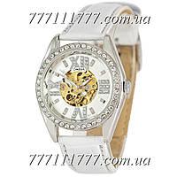 Часы женские наручные Omega Diamonds White-Silver