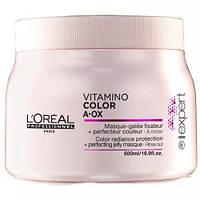 Маска-желе для защиты и сохранения цвета окрашенных волос 500мл-Vitamino Color A-OX Mask