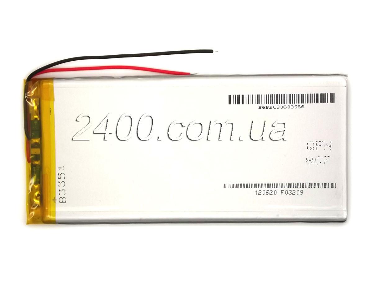 Акумулятор планшета (3800 маг) - розмір 4*55*120 мм 4055120 мм 3,7 в універсальний 3800mAh 3.7v